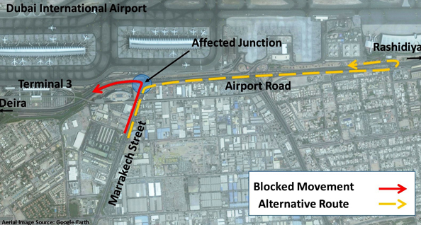 roadworks dubai airport