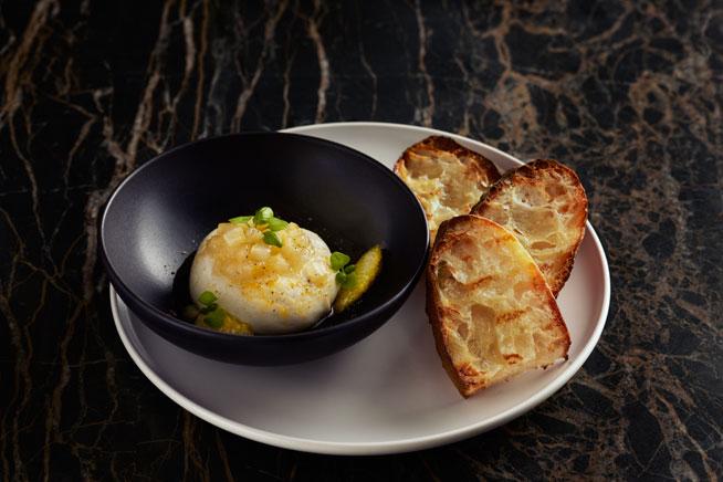 02-JEAN-GEORGES-Burrata-with-Sorrento-Lemon-Jam-&-Toasted-Sourdough-Bread-(JG-Kitchen)RS