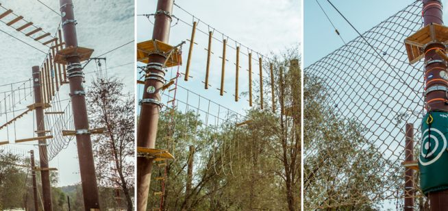 This high-ropes park in Mirdiff offers some serious treetop