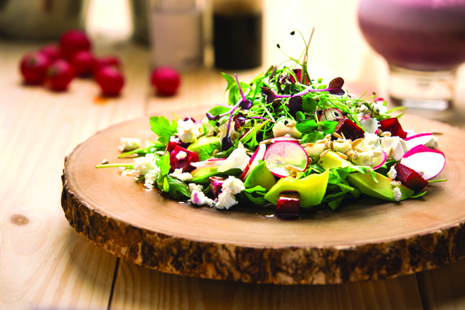 Beetroot and feta salad salad - STEROID CAFE RS