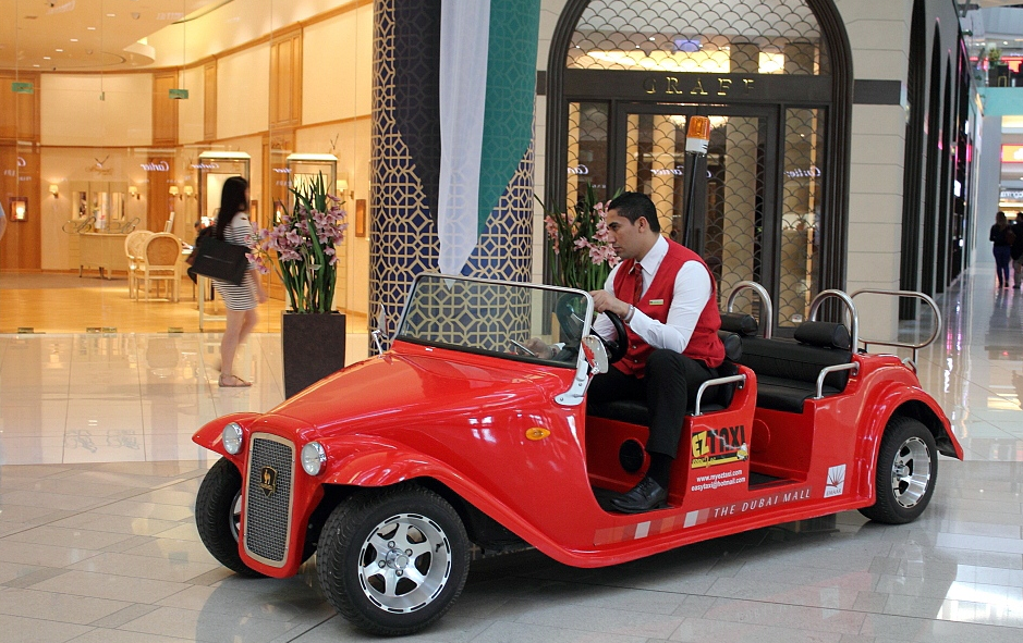 Carts in Dubai Mall