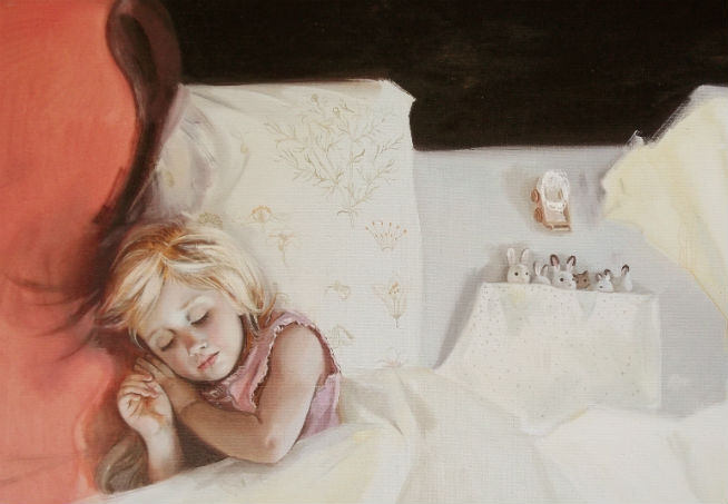 WHILE YOU ARE SLEEPING oil on canvas 80 x 100 2015
