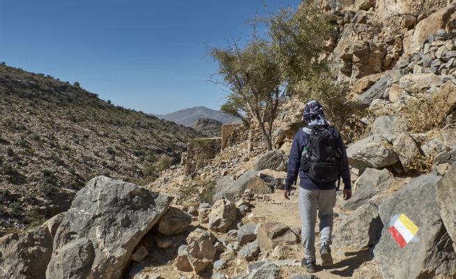 Hiking Wadi Sarab