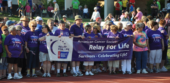 Relay for Life starting line