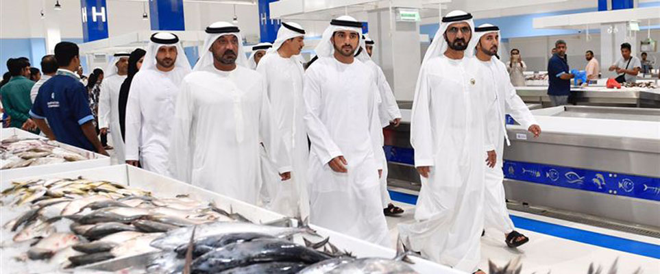Sheikh Mohammed just paid Dubai's new fish market a visit