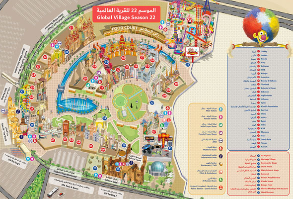 Global-Village-Map - What's On Dubai on