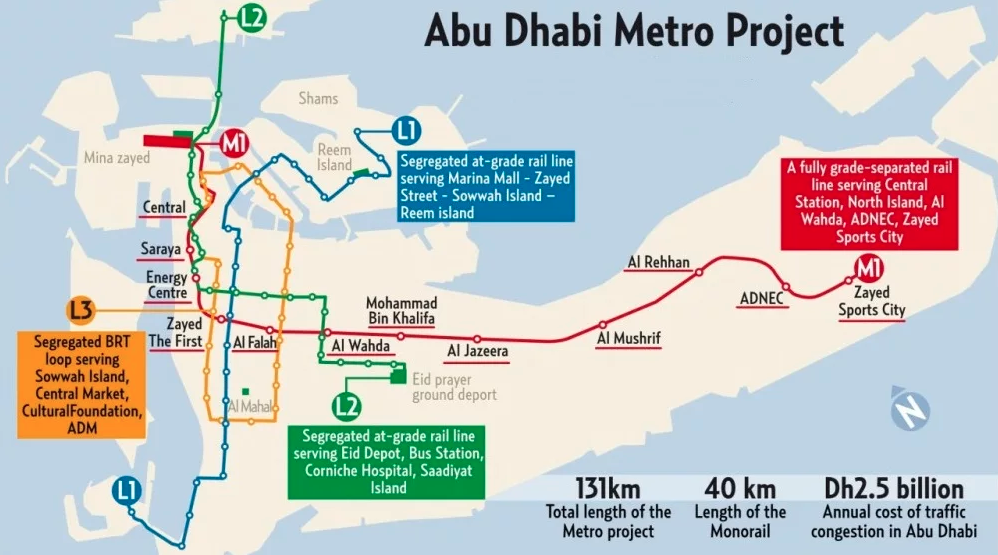Has work started on Abu Dhabi's very own metro system? It