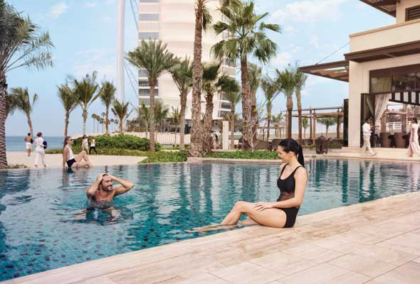 The Only Way That You Could Beat This Beach Club S View Of Burj Al Arab Is If Hopped On A Boat Jumeirah Naseem Spot Quite Literally Under