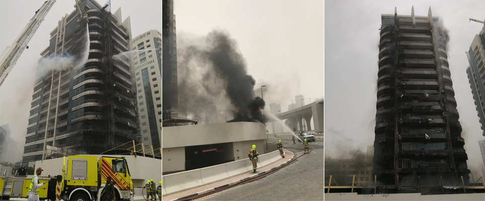 What are a tenant's rights after a residential fire in Dubai?