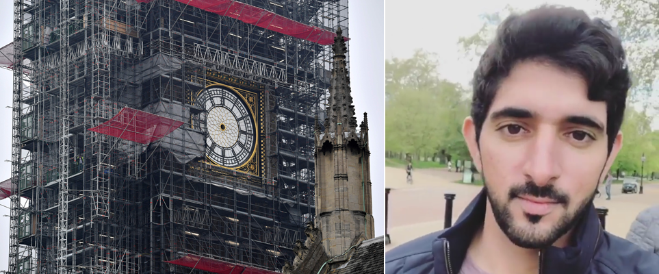Sheikh Hamdan had a touching message for London's Big Ben