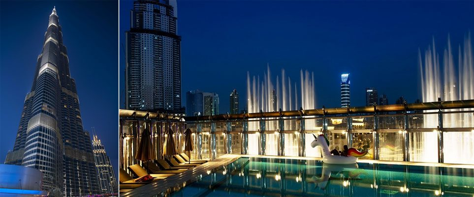 The Burj Khalifa rooftop pool party is back for a new season