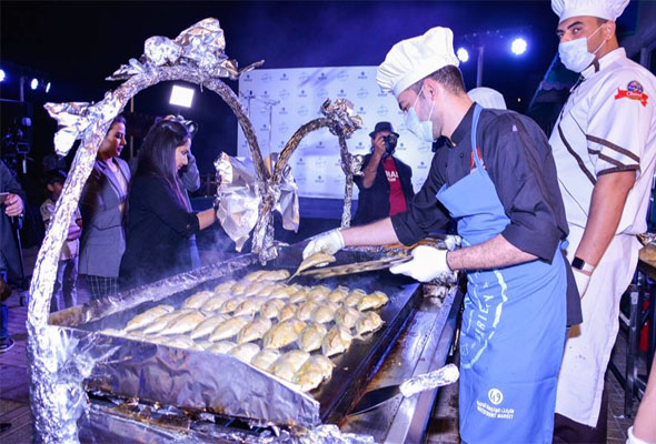 Chef Nobu paid a visit to Dubai's Waterfront Market