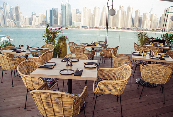 7251cc16 Located within touching distance of Ain Dubai ferris wheel on Bluewaters  Island, the restaurant and bar is divided between the ground floor dining  room, ...