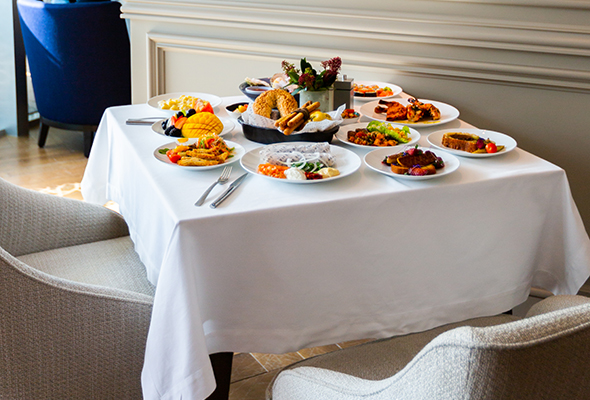 The Brunch Is Buffet Style But Modest Selection Means That You Wont Waste Precious Time Walking From Station To
