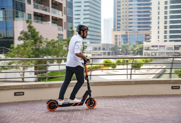 A cool new e-scooter app has launched in Abu Dhabi