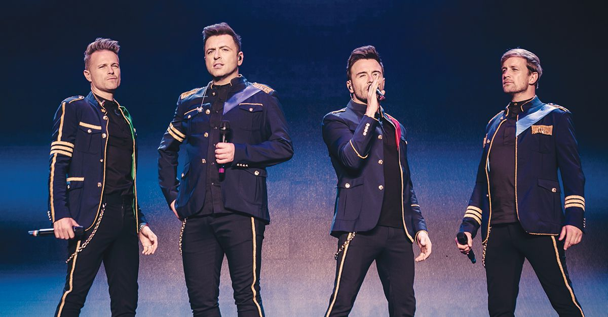Westlife take to the stage at Dubai's Coca-Cola Arena this week
