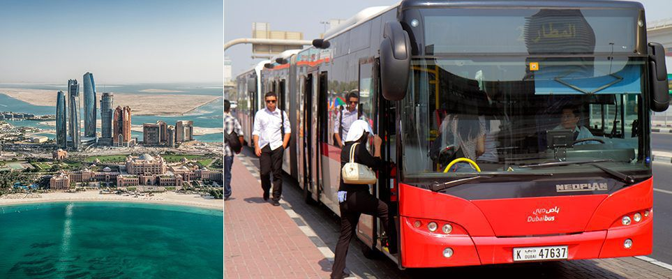There's a new bus route connecting Abu Dhabi and Dubai