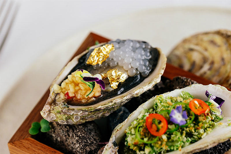 Punjab Grill Oyster with gold