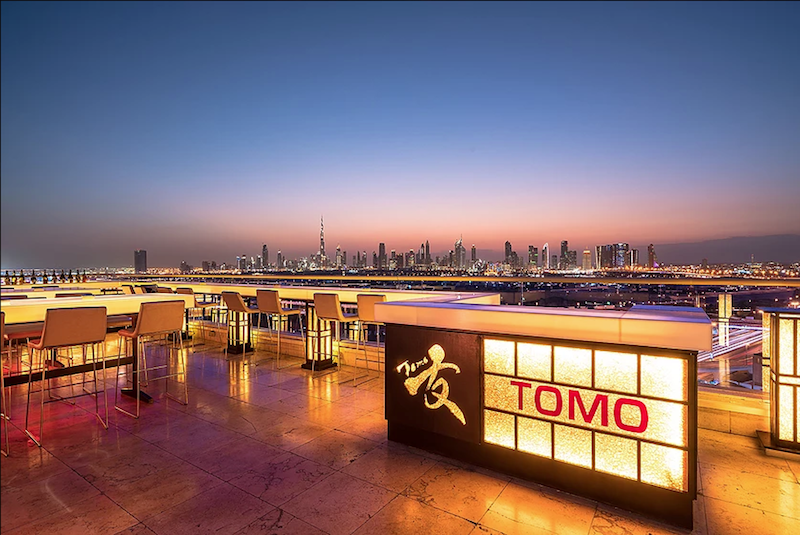 tomo romantic restaurants dubai