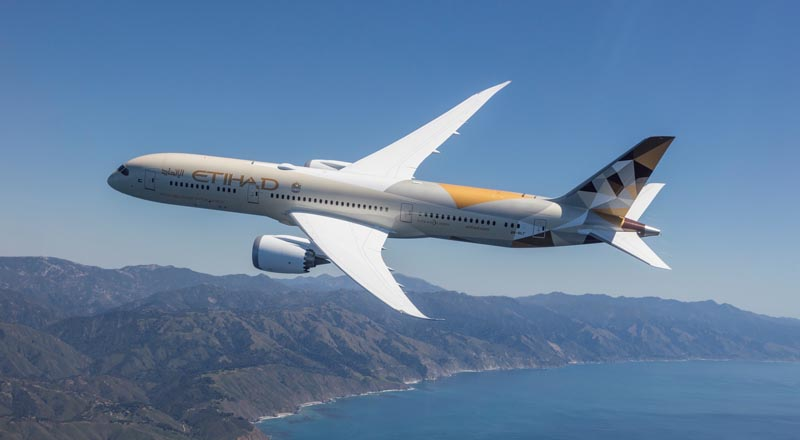 Etihad Airways Boeing 787-9 Dreamliner, saudi arabia cancellations, travel restrictions, coronavirus, covid19 virus