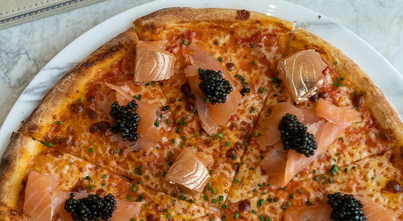 Beluga caviar pizza