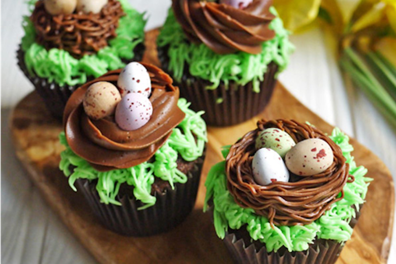 Brownie Points Cupcake - Easter Nest