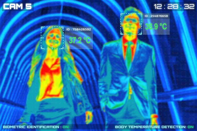CCTV temperature scan
