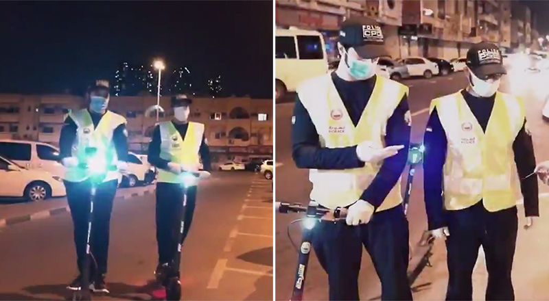 dubai police smart electric scooters