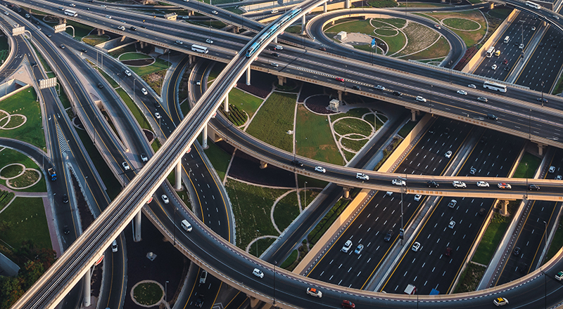Sheikh zayed road intersection, Dubai, UAE