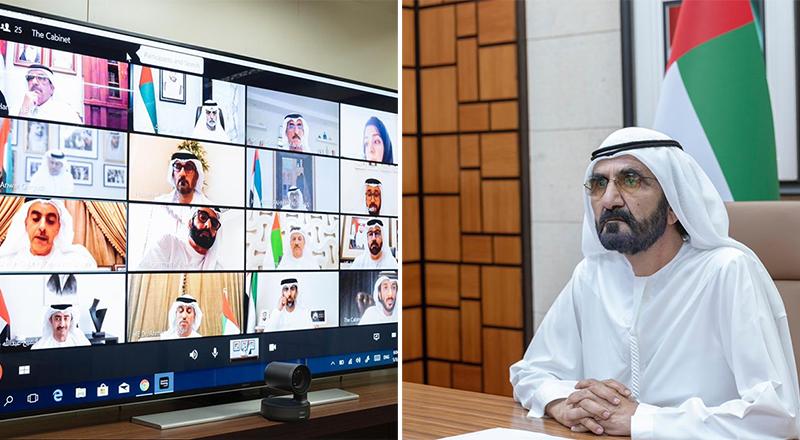 sheikh mohammed cabinet meeting skype
