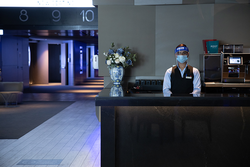 Roxy Cinemas social distancing staff