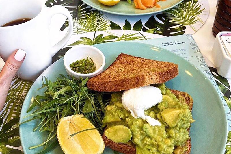 Circle cafe avocado on toast