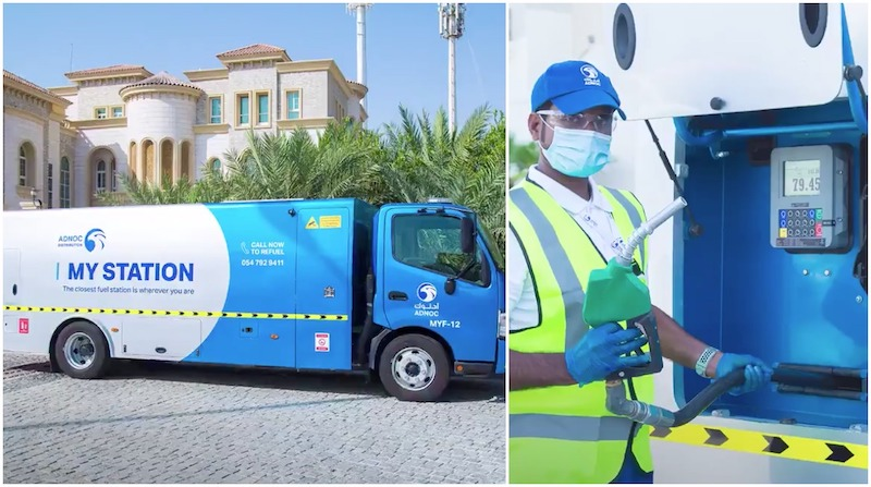 Abu Dhabi Posts, adnoc, fuel delivery uae