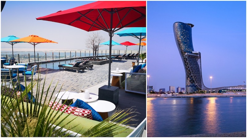 Adnaz Pool Bar, Andaz Capital Gate Abu Dhabi, best abu dhabi pool bars