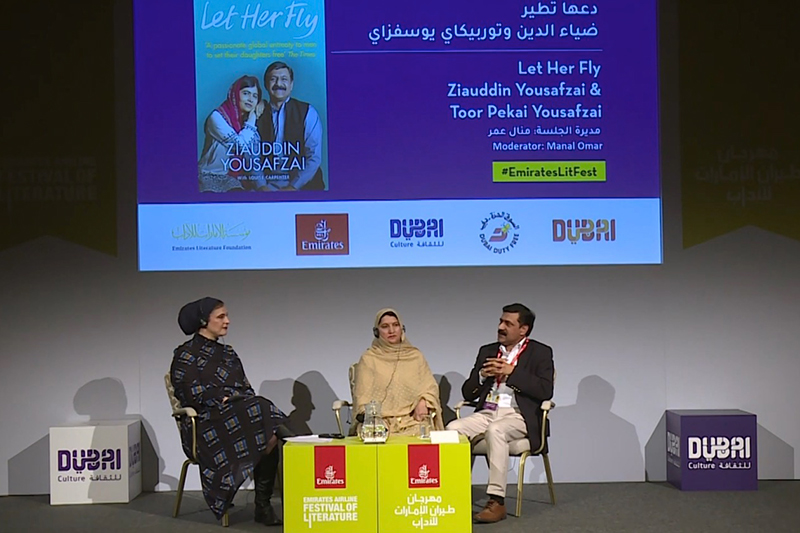 Emirates literature festival - let her fly