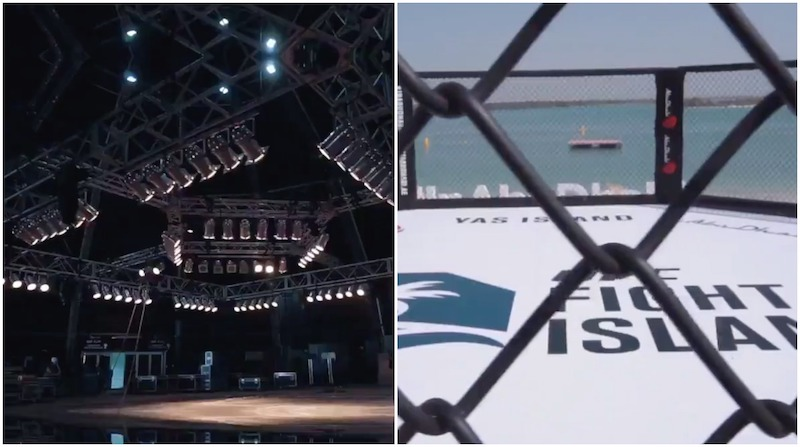 UFC, UFC Fight Island Abu Dhbai, UFC 251 Abu Dhabi, fight island beach octagon, ufc fight island beach arena
