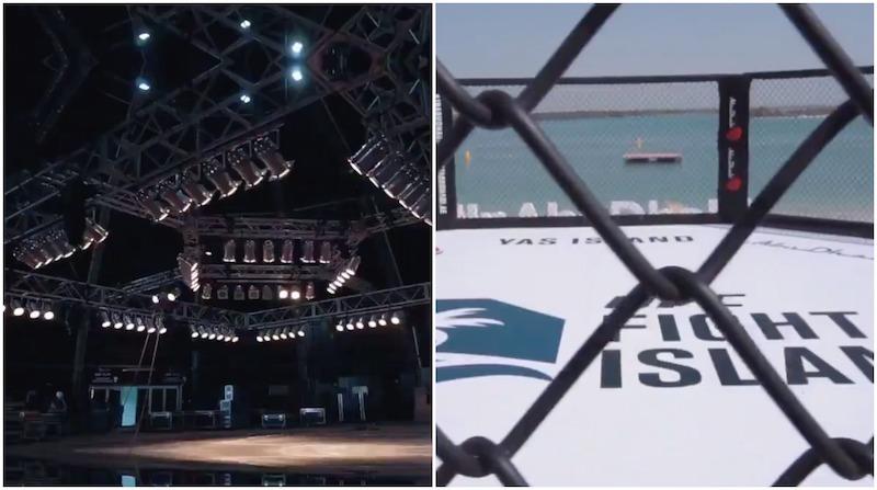 UFC, UFC Fight Island Abu Dhbai, UFC 251 Abu Dhabi, fight island beach octagon, ufc fight island beach arena