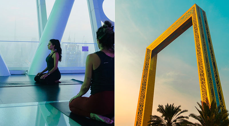 yoga at dubai frame