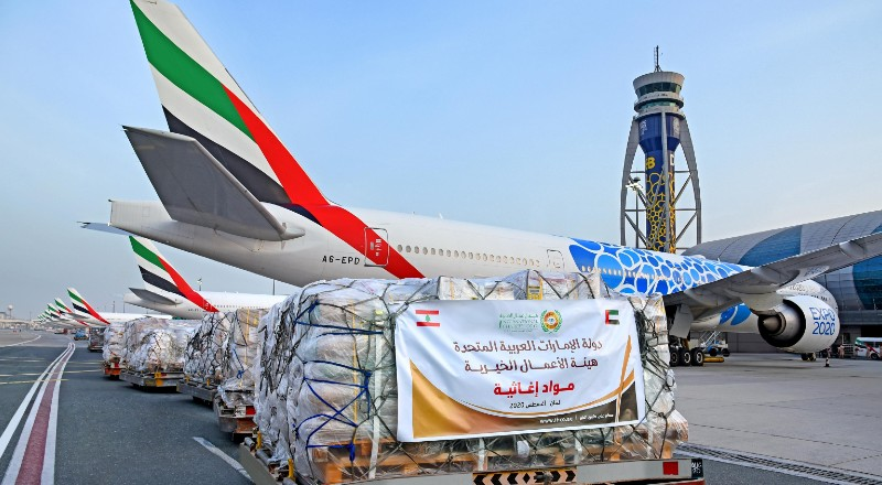 emirates aid to lebanon