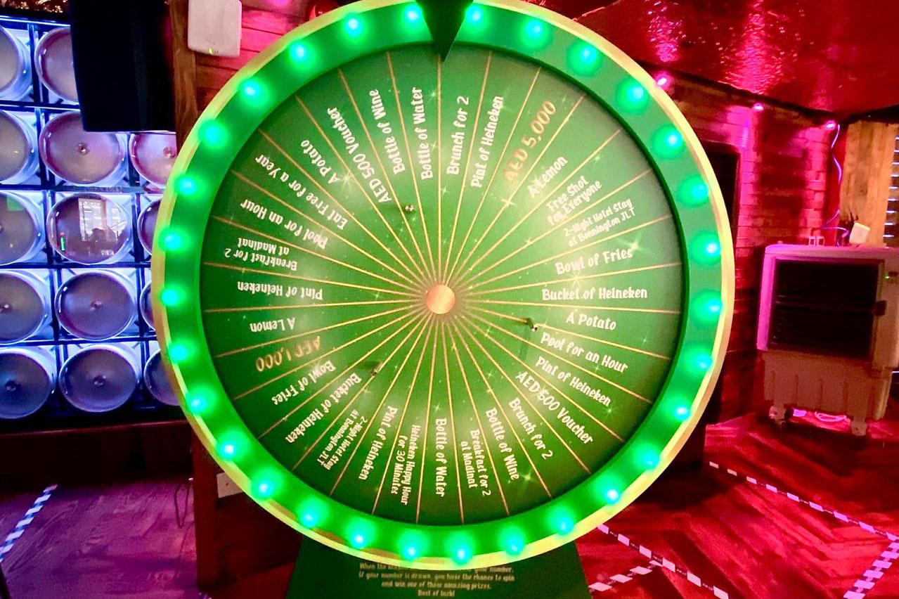 McGettigans wheel of fortune