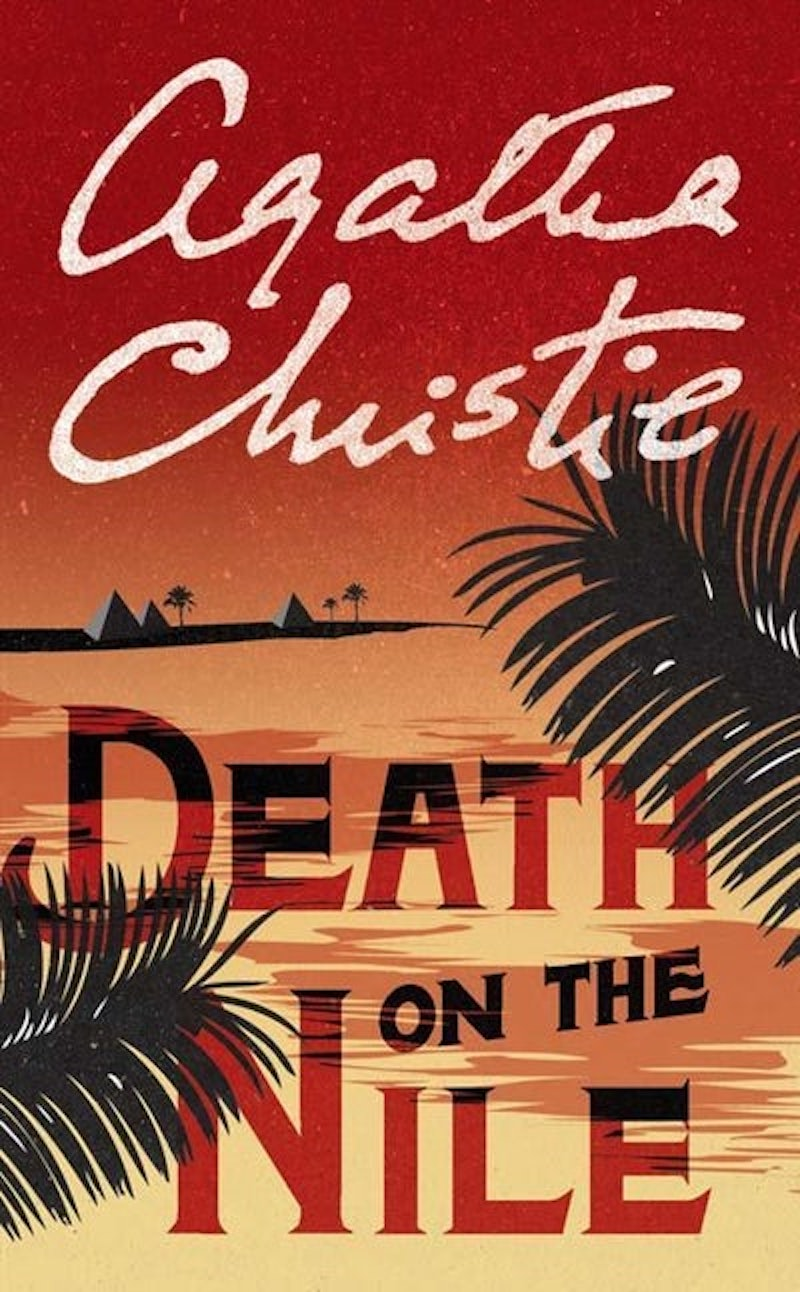 What's on the bookshelf death on the nile