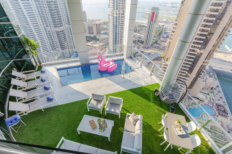 Dubai Marina penthouse airbnb
