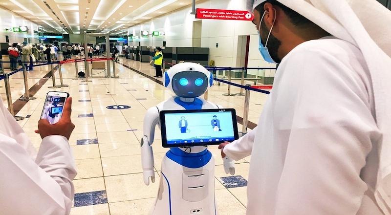 dubai airport robot