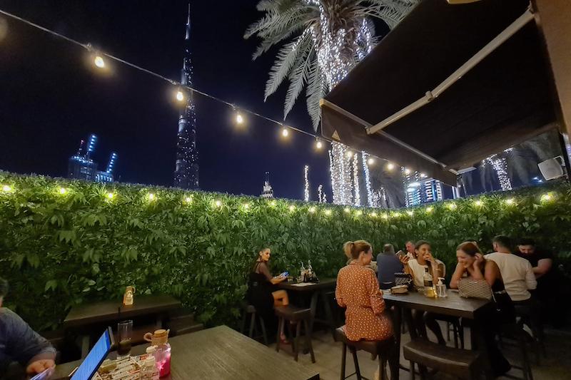Distillery Terrace beer garden dubai