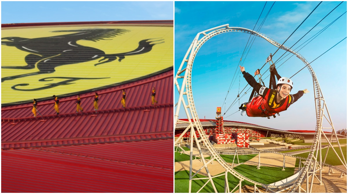 Tickets for Ferrari World Abu Dhabi zipline and roof-walk now on sale