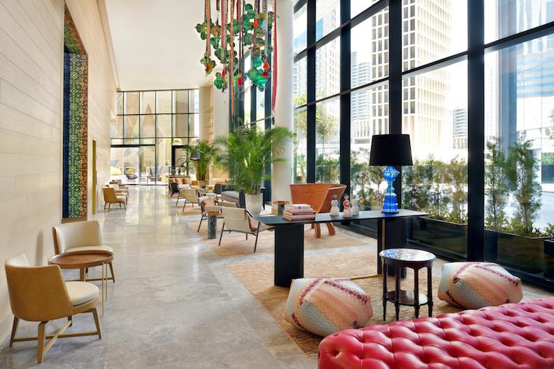 Hotel Indigo Lobby Seating Area