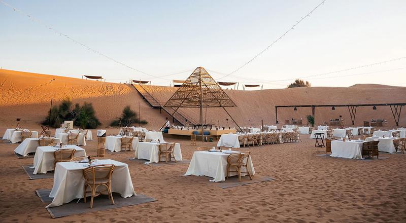 dubai desert dining