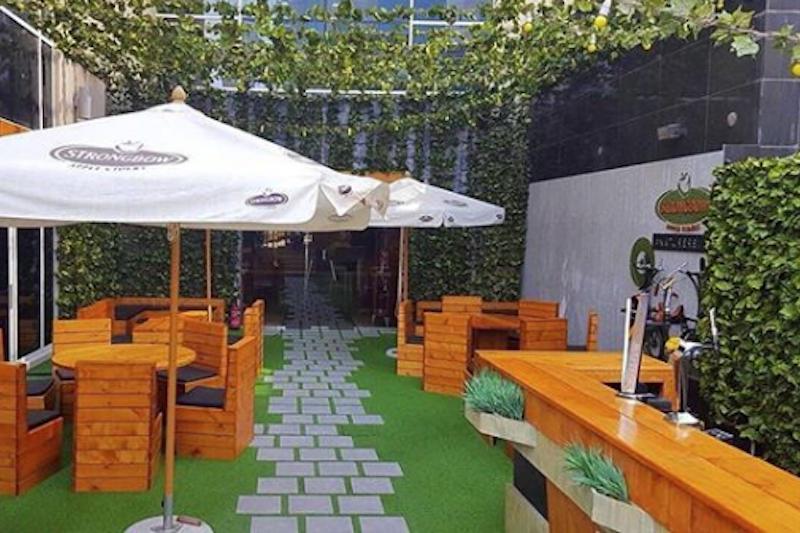 underground beer garden