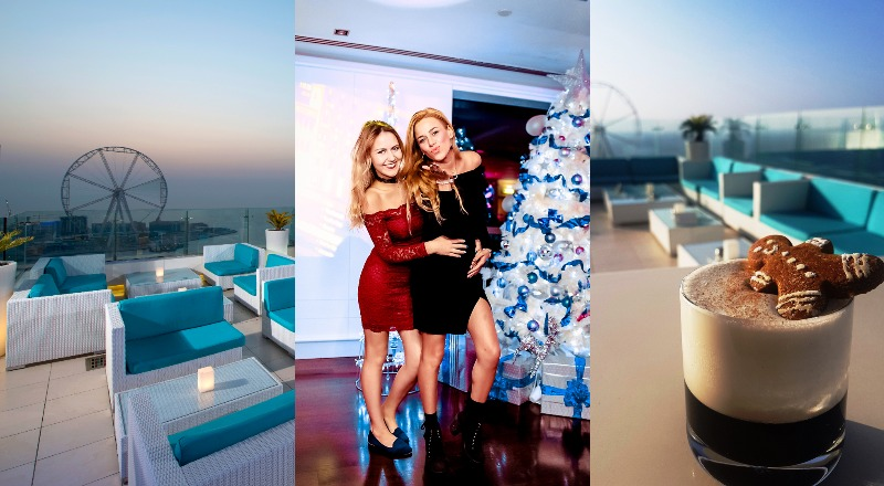 Christmas ladies night dubai santa baby pure sky lounge