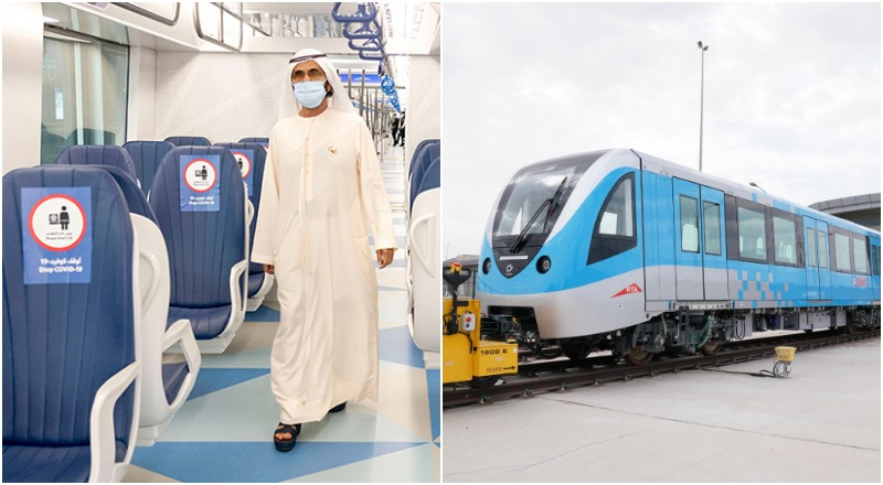 new Dubai metro trains